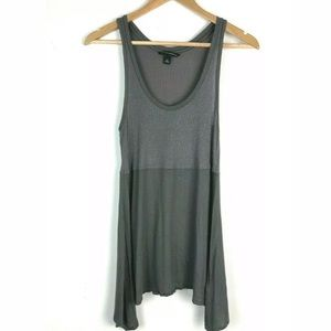 Banana Republic M High Low Cami Shimmer Gray